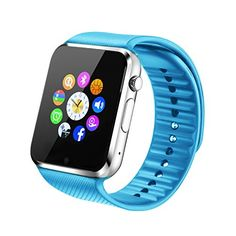 Fantime Smart-Watch All-in-One, Bluetooth, mit SIM-Karte/TF-Karte für Apple iPhone 5S/6/6S und Android oder höher - http://uhr.haus/fantime/blau-fantime-smart-watch-all-in-one-bluetooth-mit-6