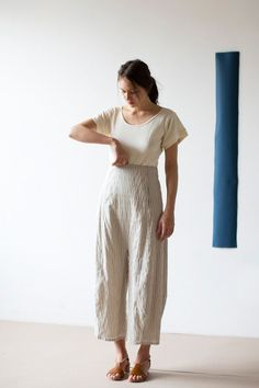 Caron Callahan Morgan Pant in Stripe Voile