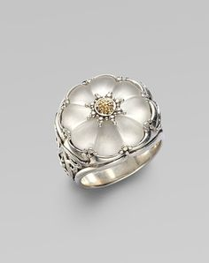 Ring | Konstantino Designs.  Sterling Silver, 18K Gold and Rock Crystal