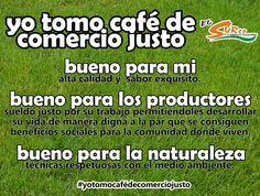 café - cafe - coffee - comercio justo - fair trade ... yo tomo café de comercio justo