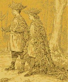 Fabriquer un déguisement celte, roi ou reine d'automne tout en recyclé, en feuilles - Un costume idéal pour Halloween, en harmonie avec la saison. Le déguisement fait avec des feuilles d'automne est des plus économiques, des plus nature. Faites vous même un costume féerique en cueillant les fournitures nécessaires dans la nature.