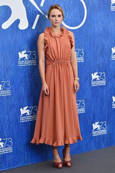 Suki Waterhouse attends a photocall for 'The Bad Batch' during the 73rd Venice Film Festival at Palazzo del Casino on September 6 2016 in Venice Italy