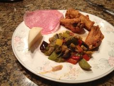 Wings, salami, cheese, and peppers and eggplant:9/24/12
