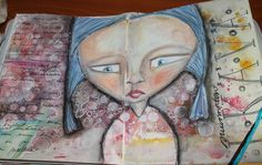 ArtJournal page, Mixedmedia by Anu-Riikka L.