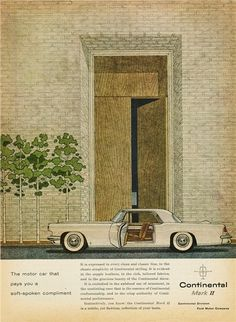 1956 Lincoln Continental Mark II Ad