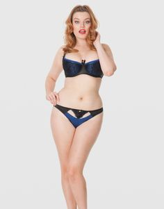Picture of Scantilly Invitation Blueberry/Black Half Cup Bra