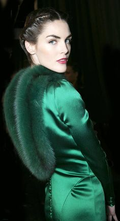 Vintage glam in emerald green would be my choice of evening wear