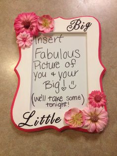 Big/Little Crafts- Sorority Frame