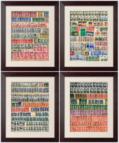Postage Stamp Collage Art
