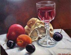 "Saatchi Art Artist albertina giuliana alberti; Painting, ""BREAD AND WINE"" #art"
