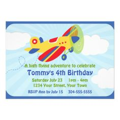 431 Best Airplane Birthday Party Invitations Images On Pinterest In