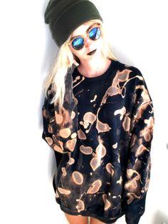 NEW Dip Tie Dye Grunge Jumper Sweatshirt Vintage Acid Wash Oversize Space Rust | eBay