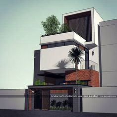 Modern House Facades, Modern Architecture House, Residential Architecture, Architecture Design, Villa Design, Facade Design, House Front Design, Modern House Design, Sketches Arquitectura
