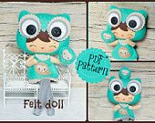 PDF The owl and the hedgehog patterns Plush Doll by Noialand