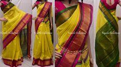 4750rs Status:AVAILABLE Lemon yellow Kuppadam silk saree Blouse:running blouse Green !! Write us for order sparklingfashion3@gmail.com (or) WhatsApp:9949519207 10 May 2016