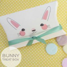 Free printable easter bunny gift box for treats these are so great here is a free printable easter treat box that is just the right size for small candies maybe the easter bunny himself will leave one of these treat filled negle Choice Image