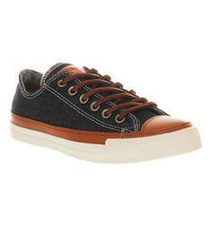 Converse Premium Ctas Ox Indigo Denim Tan Leather