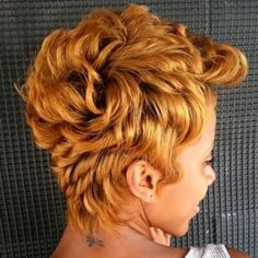 Blonde Pixie, Medium Hair Styles, Curly Hair Styles, Natural Hair Styles, Short Styles, Short Black Hairstyles, Pixie Hairstyles, Pixie Haircuts, Hairstyles 2016