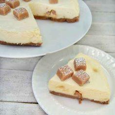 Caramel Toffee Cheesecake (No-Bake)