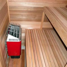 Basement Sauna, Sauna Room, Basement Ideas, Garage Ideas, Basement Remodeling, Remodeling Ideas, Outdoor Sauna Kits, Indoor Sauna, Building A Sauna