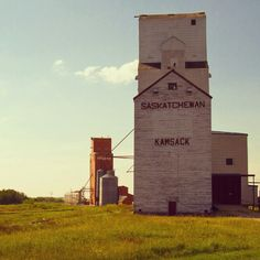 Grain Elevators in Country Barns, Old Barns, Canadian Prairies, Saskatchewan Canada, Canadian History, True North, Farm Yard, The Province, Old Buildings
