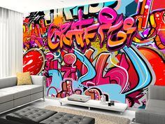 Hip Hop Graffiti wall mural living room preview