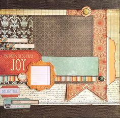 You Bring Me So Much Joy  This layout is perfect for Fall, Autumn, Thanksgiving, playing in the leaves, Family portrait, picking pumpkins, etc. DaringDezinz Etsy shop by Tamara Jensen