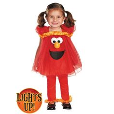 Toddler Girls Frilly Elmo Light Up Costume - Sesame Street. Would 't pay $39, but how cute!