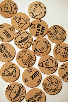 Wooden disc memory matching game from LoveMonkey
