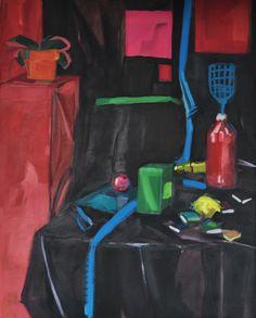 Martwa natura, Joanna Cisek,  90 x 70 cm, olej na płótnie,  2015