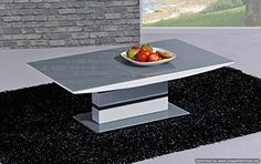 Arctic Coffee Table Grey and White - Italian Design - Contemporary - Stylish White Glass Coffee Table, Coffee Table Grey, Coffee Table Furniture, Coffee Tables, Indoor Outdoor Furniture, Contemporary Style Homes, Grey Glass, Affordable Furniture, Furniture Styles