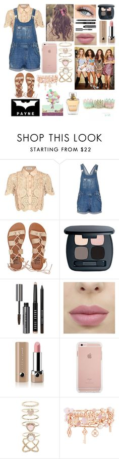 """"""""""" by littledirectionor00 ❤ liked on Polyvore featuring self-portrait, Topshop, Billabong, Bare Escentuals, Bobbi Brown Cosmetics, Marc Jacobs, Accessorize and Henri Bendel"""