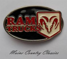 Vintage Dodge RAM Trucks Belt Buckle Chrysler Corp Pickups | eBay