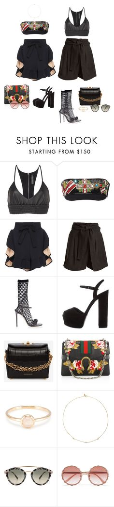 """Coma"" by audrey-balt on Polyvore featuring David Koma, Versace, Apiece Apart, Marco de Vincenzo, Gucci, Alexander McQueen, Loren Stewart, Westward Leaning and Dolce&Gabbana"