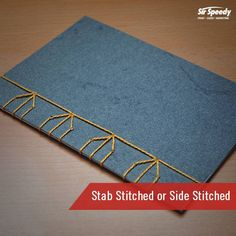 Types of Book Binding-Stab Stitched or Side Stitched Types Of Books, Book Binding, Paper Crafts, Stitch, Artist, Decor, Full Stop, Decoration, Tissue Paper Crafts