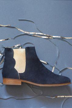 Chaussures laurette marine - chaussure - des petits hauts