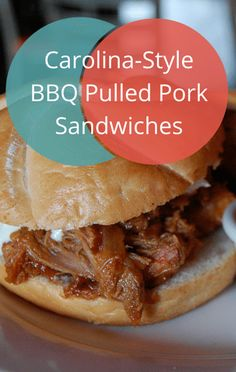 The Chew: Carolina-Style BBQ Pulled Pork Sandwiches