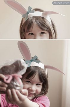 Free Printable Easter Bunny Ears and other fun last minute crafts and printables.