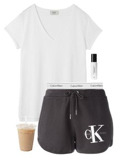 """Idk if I should get these shorts or not"" by aweaver-2 ❤ liked on Polyvore featuring Hush, Calvin Klein Underwear, Calvin Klein Jeans and Context"