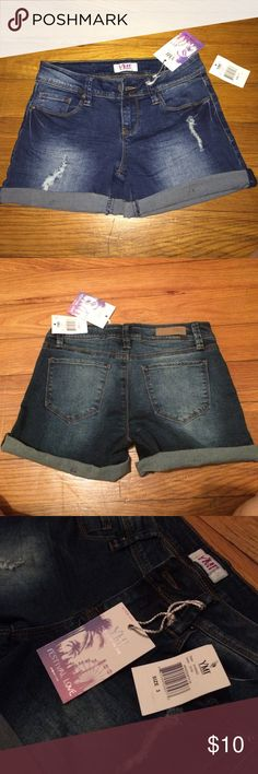 Size 3 YMI shorts These jean shorts are a size 3 and are brand new with tags! YMI Shorts Jean Shorts