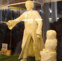 Yep. It's a Harry Potter butter sculpture. I saw it at the Iowa State fair a couple of years ago. We have different sculptures every year and one year was HP themed.