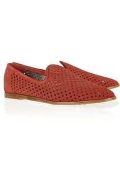 Pedro Garcia|Yasmin perforated suede loafers|NET-A-PORTER.COM