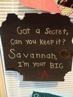 My big is perfect. Pretty Little Liars themed note! #pll #BigLittle #ΑΣΤ