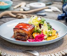 Mmmmmm sticky, rich melt-in-your-mouth pork belly - the ultimate treat! It may not be the healthiest recipe, but this is a special occasion dish! Asian Recipes, New Recipes, Cooking Recipes, Healthy Recipes, Ethnic Recipes, Healthy Food, Pork Belly Recipes, Sweet Chilli, Ginger Beer