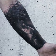 Religious Jesus Christ Forearm Tattoo - Best Forearm Tattoos For Men: Cool Inner and Outer Forearm Tattoo Designs Top Arm Tattoo Ideas For Guys s sforguys sformen Outer Forearm Tattoo, Forearm Sleeve Tattoos, Forearm Tattoo Design, Forearm Tattoo Men, Leg Tattoos, Tatoos, Mens Body Tattoos, Tattoos Arm Mann, Tattoos For Guys Badass