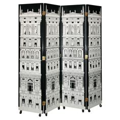 Architectural folding screen by Fornasetti