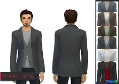 The Sims 4 | NyGirl Sims Blazer with Vest for Males | cas clothing recolor male adult top everyday party