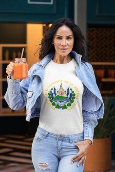 Escudo de El Salvador Classic t-shirt El Salvador clothing   Etsy Countries In Central America, Dance Moms, Classic T Shirts, Comfy, Etsy, Sleeves, Cotton, Clothes, Fashion