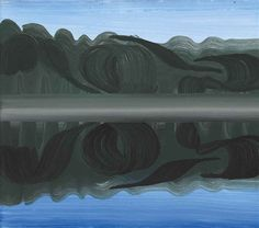 Artwork by Wilhelm Sasnal, Straw Smreczynski (Pond Smreczynski), Made of oil on canvas