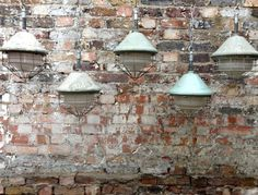 1950s Vintage industrial caged pendants lights